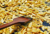 French fries in a pan — Stock Photo