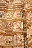Khajuraho temple, Kamasutra, Madhya Pradesh, India — Zdjęcie stockowe