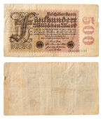 Old German banknotes — Stock Photo