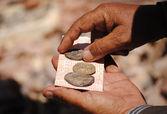 Antique coins in a market in Petra, Jordan — Stock Photo