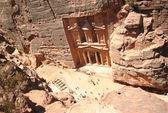 Al Khazneh or The Treasury, Petra, Jordan — Stock Photo