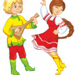 Royalty-Free Stock Imagen vectorial: young girl and boy