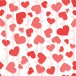 Seamless red hearts background — Stock Photo