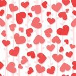 μοτίβο ομοιογενές φόντο με κόκκινο και ροζ καρδιές — Φωτογραφία Αρχείου