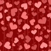 Padrão de fundo sem emenda com corações rosa e vermelhas — Foto Stock