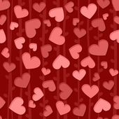 Seamless background pattern with red and pink hearts — Stock Photo