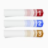 Conjunto de etiquetas de pegatinas - etiquetas - web color — Vector de stock