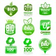 Vector set of bio icons — Stock Vector