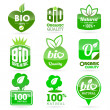 Bio organic quality labels — Stock Vector