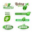 Set of eco icons on the white background. — Stock Vector