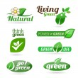 Set of eco icons on the white background. — Stock Vector #35249521