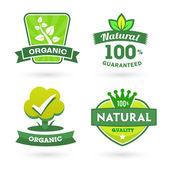 Set van groene iconen — Stockvector