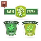 Eco food labels — Stock Vector