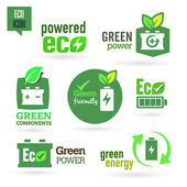 Ecology - Green - Renewable icon set — Vector de stock