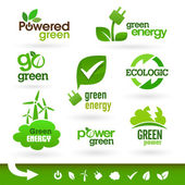 Bio - Ecology - Green - Energy icon set — ストックベクタ