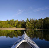 Kayak on Calm Lake — Stock Photo