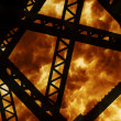 Steel Structure Explosion — Stock Photo
