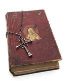Christ on Religious Book — Stock Photo