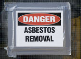 Danger Asbestos Removal — Stock Photo