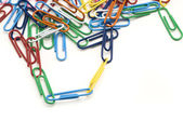 Connected Paper Clips — Stock Photo