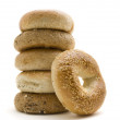 Healthly Lifestyle Bagels - Stock Photo