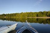 Two Kayaks on Charleston Lake — Stock Photo