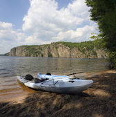 Kayaks at Bon Echo Cliffs — Stock Photo