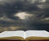 Light on the Bible — Stock Photo