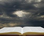 Light on the Bible — Stock Photo