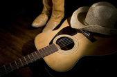 カントリー ミュージックのスポット ライト — ストック写真