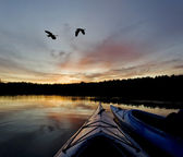 Wilderness Lake Sunset — Stock Photo