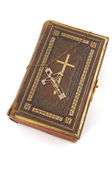Cross on a Bible — 图库照片