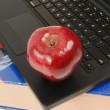 Book, Laptop and Apple — Stock Photo #22805922