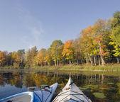 Autumn Kayaks — Stock Photo