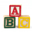 abc wooden blocks — Stock Photo