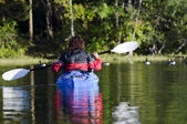 Kayaker on the Lake — Stock Photo