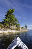 Kayak on Northen Lake — Stock Photo