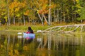 Autumn Beauty from the Kayak — Stock Photo