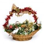 Christmas Basket — Stock Photo