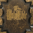 Antique Bible Cover Text — Stock Photo