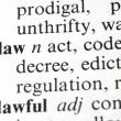 The Word Law — Stock Photo