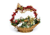 Christmas Basket — Stock Photo