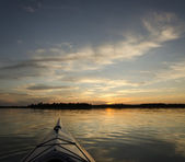 Kayak at Sunset — Stock Photo