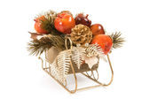Sleigh With Fruit Ornaments — Stockfoto