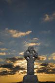 Sunrise on Celtic Cross — Stock Photo