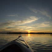 Summer Sunset Kayaking — Stock Photo