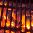 Hot Charcoal with Fire - Foto Stock