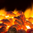 Hot Charcoal with Fire - Stock Photo