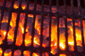 Hot Charcoal with Fire — Stock Photo