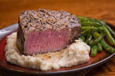 Filet Mignon with Bite taken out, Medium Rare — Stock Photo